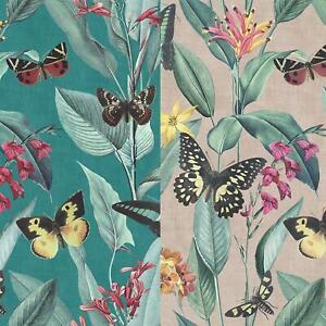 Rasch Platina Metallized Butterfly Floral Wallpaper