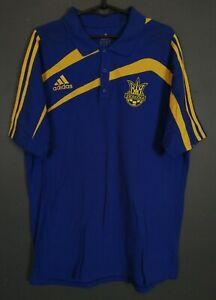 MEN'S ADIDAS UKRAINE NATIONAL 2009/2010 SOCCER FOOTBALL SHIRT JERSEY POLO SIZE L