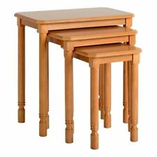 Wood Veneer Traditional 3 Nested Tables with Flat Pack
