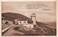 Cartolina - Postcard -  casolare e contadini - Poesia D'Annunzio - anni '20