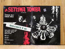 LA SETTIMA TOMBA fotobusta poster Horror Stephania Nelly Nando Angelini AC25