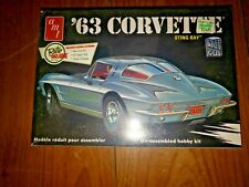 Amt 63' Corvette Sting Ray 1/25 Scale Vintage Sealed Nos Plastic Model Car Kit