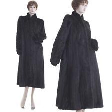 Mint! High Grade Forever Fashionable Black Mahogany Female Mink Fur Swing Coat