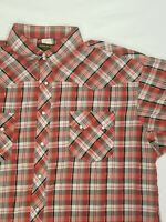 RUSTLER by WRANGLER Men's Pearl Snap Plaid Western Shirt Size 3XL. #A8.