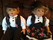 Beautiful set of 2 Joseph D'Anton dolls expression dolls brand new From Spain.