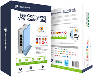 LibertyShield Lite - Pre Configured Multi Country VPN Router