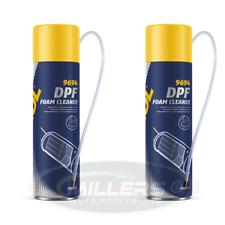 2 X Mannol DPF Cleaner Diesel Particulate Filter Spray Foam Regenerator 500ml