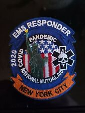 NYC EMS Patch first responders, EMT firefighter, Medic, New York city deployment