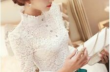 Lace Collared Long Sleeve Tops & Shirts for Women
