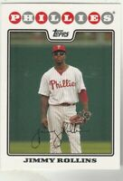FREE SHIPPING-MINT-2008 Topps #30 Jimmy Rollins Phillies PLUS BONUS CARDS