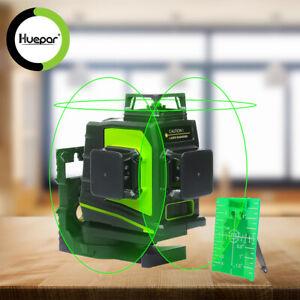 Huepar 360° Rotary Self Leveling laser level Green Cross Line Measure Tool