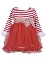 Bonnie Jean Baby Girl's Size 24 Months Red Stripe Dress New with Tags