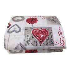 Trapuntina Copriletto shabby love cuore rosso letto matrimoniale 250x260 cm