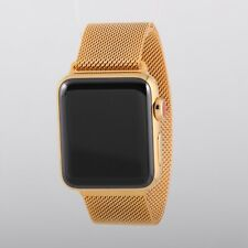 24k Gold Plated 38mm Apple Watch SERIES 3 Milanese Band -Latest Model