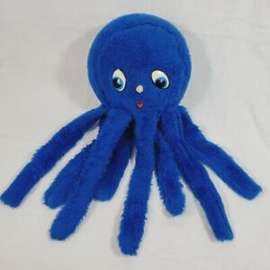 "Vintage Blue Octopus Stuffed Animal Plush Toy 20"" Long"