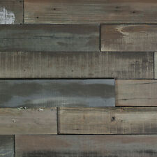 Nuvelle Deco Planks Weathered Gray  Length Solid Hardwood Wall NV7DP