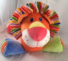 First Impressions Lion Plush Stuffed Animal Toy Orange Sewn Eyes Soft