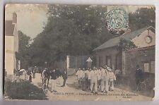 CPA VERT LE PETIT 91  -  POUDRERIE DU BOUCHET SORTIE DES MILITAIRES 1906 ~B58