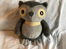"""KOHL'S CARES Owl Two Tone Gray From Aesops Fables 9"""" Plush *EUC*"""