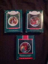 Hallmark Ornament Collector Plates 1987 1988 1989