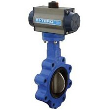 """NEW! 3"""" Wafer Style Butterfly Valve W/Viton Seals-Spring Return Pneum. Actuator!"""