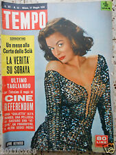 tempo 1958 cover anne heywood soraya rivista italian magazine magazines