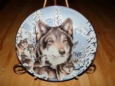 """Midnight Mystic"" WINDOW TO THE SOUL by Diana Casey Bradford Exchange WOLF Plate"