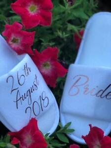 Bride,Bridal, Bridesmaid, Hen Wedding Slippers, spa Personalised Slippers