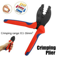 0.1-16mm² Crimping Plier Wire Cable Terminals Electrical Crimper Tool RG58/59/6