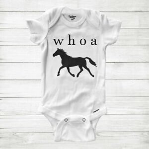 Funny Quote Saying Costume Horse Baby Infant Bodysuit One Piece Cute Horse Whoa