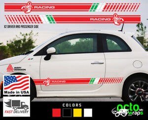 fits Fiat 500 Abarth Sport 2X racing doors side decal sticker intake accessories