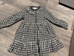 Girls Checked Zara Dress Age 3-4 Years