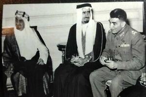 SAUDI ARABIA  EGYPT Sticker الملك فيصل ومحمد نجيب