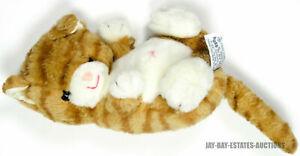 "RARE VINTAGE RUSS BERRIE & CO TABBY CAT ORANGE STUFFED ANIMAL ITEM #350 1985 12"""