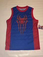 BNWT Marvel Spider-Man Sleeveless Jersey Tee Men's Sz XXL Blue