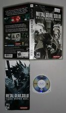 Metal Gear Solid: Digital Graphic Novel (Sony PSP) Complete FAST FREE SHIPPING