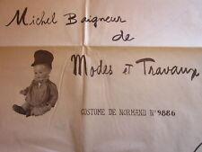 Patron ancien costume normand poupée Michel M et T 2/58