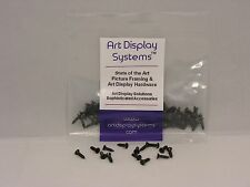 "Art Display Systems #3-3/8"" Black Flat Head - Pro Quality Screws - 100 Screws"