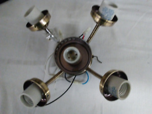 2 pcs Ceiling Fan 5-Light Kit 5-Bulb Polished AB Fitter NEW