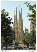 A Gaudi Sagrada Familia Barcelona Spain Postcard Unused VGC