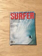 Vintage Surfer Magazine- Nicaragua - Curren, Fletcher, Rabbit - November 1992