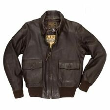 Manteaux et vestes militaires marrons en cuir pour homme