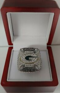 Aaron Rodgers - 2010 Green Bay Packers Silver Color Custom Super Bowl Ring W Box