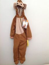 Toddler Monkey Costume Complete Tail Banana Hooded Size 2T 3T New!