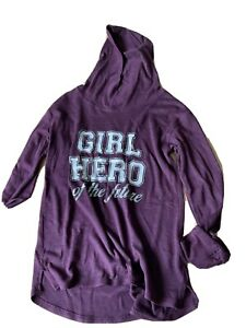 H And M Burgundy Knit Effect Hooded Top Age 12-14 Yr