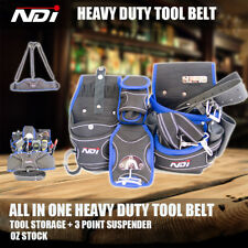 Heavy Duty Tool Belt Nail Storage Trade Pocket Bag Hammer Holder Suspender ND-12