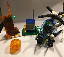 LEGO Jurassic World Lot 2 Guard Minifigures W Volcano Piece Helicopter