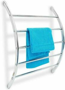Relaxdays 10019258Wall Hand Towel Holder Chromed Stainless Steel 70x56.5x15.5cm