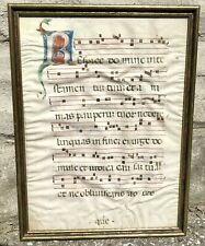14th Century Antiphonal Sheet on Vellum With Large Initial R, Italian?