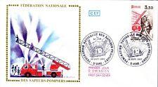 2233+ FDC  ENVELOPPE 1er JOUR  CEF FEDERATION  NATIONALE  DES  SAPEURS POMPIERS